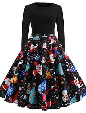 cheap Toys & Hobbies-Audrey Hepburn Retro Vintage Dress Women's Spandex Costume Black Vintage Cosplay Christmas