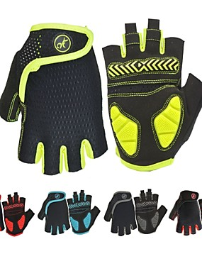 cheap Sports & Outdoors-Bike Gloves / Cycling Gloves Mountain Bike Gloves Mountain Bike MTB Road Bike Cycling Anti-Slip Breathable Shockproof Sweat wicking Fingerless Gloves Half Finger Sports Gloves Terry Cloth Silica Gel