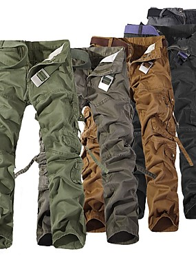 cheap Sports & Outdoors-Men's Hiking Pants Hiking Cargo Pants Outdoor Windproof Breathable Comfortable Wear Resistance Winter Cotton Pants / Trousers Bottoms Camping / Hiking Hunting Fishing Black Brown Army Green XXS XS S