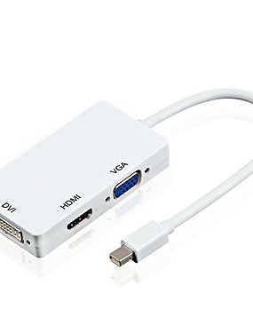 preiswerte DisplayPort Kabel & Adapter-Yongwei 3 in 1 Mini-Display-Port (Thunderbolt-Port) zu HDMI / DVI / VGA männlich zu weiblich Adapter Konverter für Apple Macbooks Microsoft Oberfläche Tabletten Google Chromebook Pixel