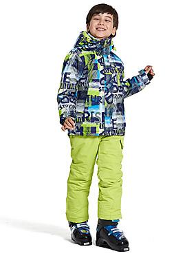 cheap Sports & Outdoors-Wild Snow Boys' Girls' Ski Jacket with Pants Ski / Snowboard Multisport Snowsports Windproof Warm Ventilation Polyester Mesh Clothing Suit Ski Wear / Winter