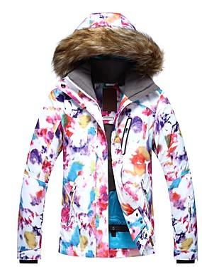 cheap Sports & Outdoors-GSOU SNOW Women's Ski Jacket Winter Sports Ski Skiing Winter Sports POLY Top Ski Wear