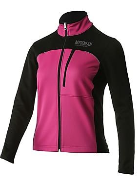 cheap Sports & Outdoors-Mysenlan Women's Cycling Jacket Bike Jersey Top Thermal / Warm Fleece Lining Sports Polyester Rose Red Mountain Bike MTB Road Bike Cycling Clothing Apparel Bike Wear
