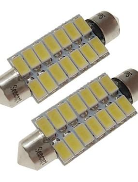 preiswerte Automobil-sencart 2 stücke 41mm auto glühbirnen 7 watt smd 5730 420 lm 14 weiß / warmweiß led innenleuchten / außenleuchten