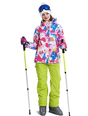 cheap Sports & Outdoors-Wild Snow Women's Ski Jacket with Pants Ski / Snowboard Multisport Snowsports Windproof Warm Ventilation Polyester Clothing Suit Ski Wear / Winter