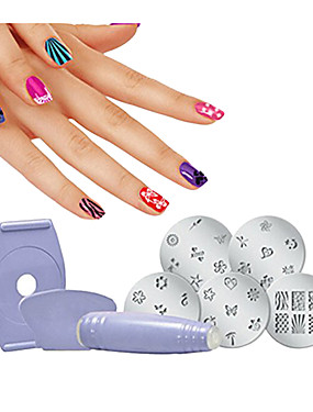 voordelige Ander Gereedschap-1 set Ympäristöystävällinen materiaali Nail Art-boorset Voor Beste kwaliteit Bloemen Series Nagel kunst Manicure pedicure modieus / Modieus Dagelijks