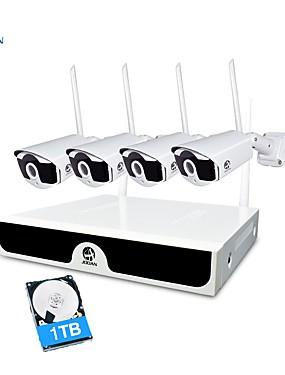 preiswerte JOOAN-jooan® wireless cctv system 4 kanal 1080p videorecorder cctv nvr 4 x 2.0 mp wifi outdoor-netzwerk ip-kameras gute nachtsicht mit 1 tb festplatte