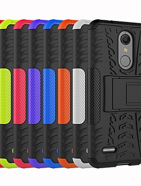 cheap Other Phone Case-Case For LG LG V30 / LG V30+ / LG StyLus 3 Shockproof / with Stand Back Cover Tile / Armor Hard PC / LG G6