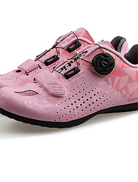 cheap Sports & Outdoors-SANTIC Adults' Road Bike Shoes Breathable Anti-Slip Cushioning Cycling / Bike Cycling Shoes Gray+White Purple Pink Women's Cycling Shoes / Ventilation / D-link / Breathable Mesh / Ventilation