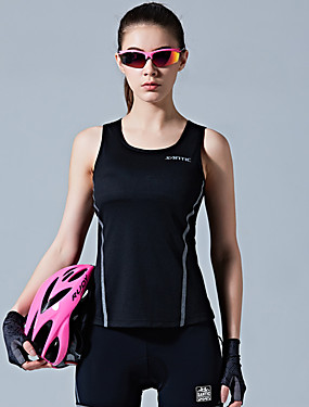 cheap Sports & Outdoors-SANTIC Women's Sleeveless Sports Tank Top Black Sky Blue Solid Color Bike Vest / Gilet Winter Sports Polyester Solid Color Mountain Bike MTB Road Bike Cycling Clothing Apparel / Stretchy