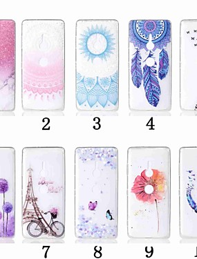 cheap Other Phone Case-Case For Sony Sony Xperia XZ2 / Sony Xperia XZ2 Compact / Sony Xperia XZ3 Transparent / Pattern Back Cover Flower Soft TPU