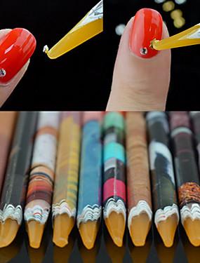 voordelige puntjes gereedschap-1pc Ympäristöystävällinen materiaali Nail Art Tool Nail DIY Tools Voor Multi Function / Beste kwaliteit White Series Nagel kunst Manicure pedicure modieus / Modieus Dagelijks
