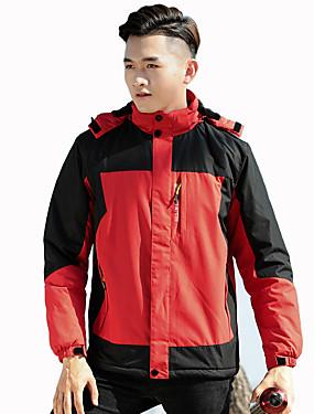 cheap Sports & Outdoors-Men's Hiking Jacket Winter Outdoor Waterproof Windproof Breathable Rain Waterproof Jacket Full Length Visible Zipper Ski / Snowboard Climbing Camping / Hiking / Caving Black / Army Green / Red / Blue
