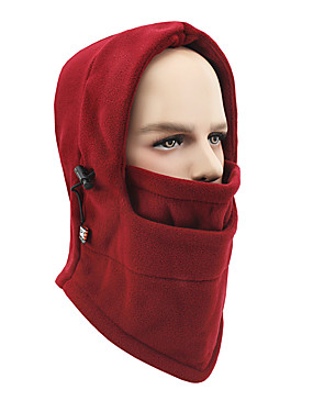 cheap Sports & Outdoors-Pollution Protection Mask Thermal / Warm Windproof Fleece Lining Moisture Wicking Soft Bike / Cycling Violet Dark Pink Red Fleece Polyester Winter for Men's Women's Adults' Outdoor Exercise Downhill