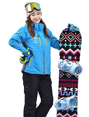 cheap Sports & Outdoors-MARSNOW® Women's Ski Jacket with Pants Snowboarding Winter Sports Waterproof Warm Breathability Cotton Clothing Suit Ski Wear