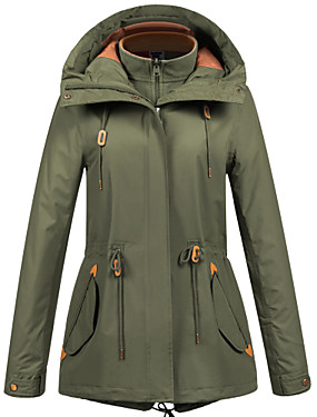 cheap Sports & Outdoors-FLYGAGa Women's Hiking Jacket Winter Outdoor Windproof Breathable Anatomic Design YKK Zipper Jacket 3-in-1 Jacket Winter Jacket Single Slider Mountaineering Outdoor LeisureSports Black / Army Green