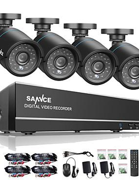 preiswerte SANNCE® Sicherheitssysteme-sannce® 8ch 4 in 1 720p hdmi ahd cctv dvr 4pcs 1.0 mp ir im freien überwachungskamera-überwachungssystem eingebautes 1tb-hdd