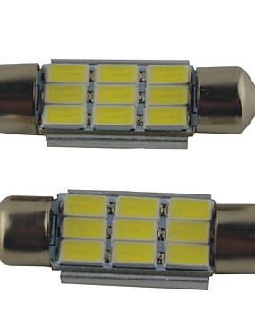 preiswerte Automobil-2pcs 39mm / 36mm / 41mm Auto Leuchtbirnen 2W SMD 5630 215lm 9 Leselampe