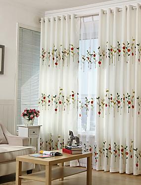 preiswerte Schönen Muttertag-Landhaus Stil Privatsphäre zwei Panele Studierzimmer / Büro   Curtains / Stickerei