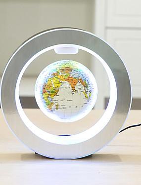 preiswerte Juguetes novedosos-runde geführte Weltkarte der Weltkarte sich hin- und herbewegende Kugel magnetisches Schwebungslicht Antigravity-Magie / Romanlampe
