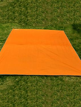 cheap Sports & Outdoors-Picnic Blanket Tent Tarps Hammock Rain Fly Outdoor Multifunctional Portable Rain Waterproof Moistureproof Oxford Cloth 220*146 cm Camping Mountaineering Picnic Autumn / Fall Spring Summer Orange Army