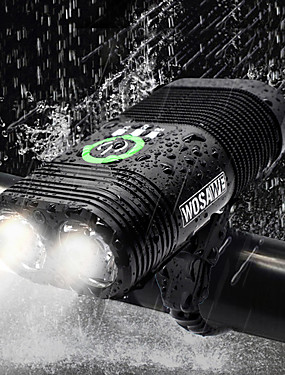cheap Sports & Outdoors-Dual LED Bike Light Front Bike Light Headlight Flashlight Bicycle Cycling Waterproof Rechargeable Multiple Modes Super Bright USB 2400 lm Rechargeable USB White Cycling / Bike - WOSAWE / IP67
