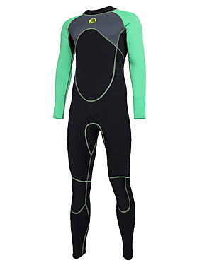 cheap Sports & Outdoors-SLINX Men's Full Wetsuit 3mm SCR Neoprene Diving Suit Thermal / Warm UV Resistant Quick Dry Long Sleeve Back Zip - Diving Water Sports Patchwork Autumn / Fall Spring Summer / Winter / Stretchy