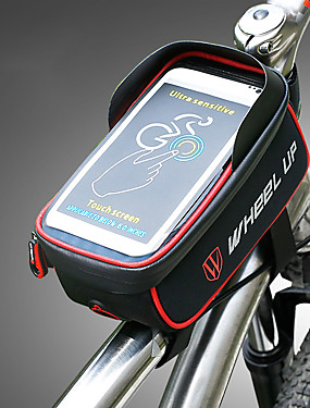 cheap Sports & Outdoors-Wheel up 1.275 L Cell Phone Bag Bike Frame Bag Top Tube Waterproof Portable Wearable Bike Bag Nylon Bicycle Bag Cycle Bag Cycling / iPhone X / iPhone XR Outdoor Exercise Trail / iPhone XS / Rainproof
