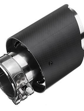 preiswerte Automobil-1 Stück 63 mm Auspuff Endrohr Tipps Unbent Edelstahl Auspuffschalldämpfer Für Universal Alle Modelle Alle Jahre