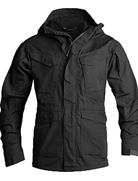 cheap Sports & Outdoors-Esdy Men's Hiking Jacket Winter Outdoor Camo Windproof Breathable Rain Waterproof Wear Resistance Jacket Top Single Slider Hunting Outdoor Exercise Military / Tactical Black / Army Green / Camouflage