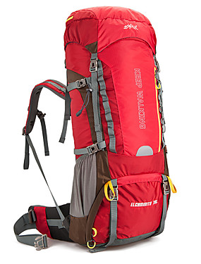 cheap Sports & Outdoors-AONIJIE 70 L Hiking Backpack Breathable Rain Waterproof Quick Dry Wear Resistance Outdoor Hiking Camping Team Sports Nylon Black Red Green