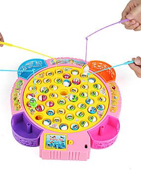 preiswerte Juguetes novedosos-Neuheiten große Fischplatte elektrische Fischteich Set Neuheiten Spielzeug Musik für Kinder Kinder zufällige Farbe