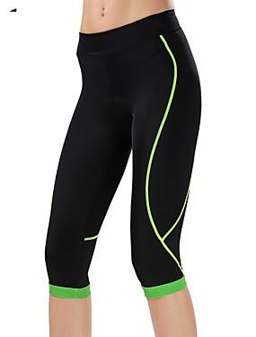 cheap Sports & Outdoors-cheji® Women's Cycling 3/4 Tights Bike Pants / Trousers Pants Breathable Quick Dry Sports Lycra Green / Blue / Pink Mountain Bike MTB Road Bike Cycling Clothing Apparel Form Fit Bike Wear