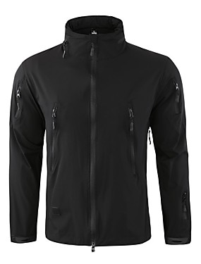 cheap Sports & Outdoors-Esdy Men's Hiking Jacket Winter Outdoor Windproof UV Resistant Breathable Rain Waterproof Jacket Top Softshell Single Slider Outdoor Exercise Black / Army Green / Grey / Khaki / Quick Dry / Quick Dry