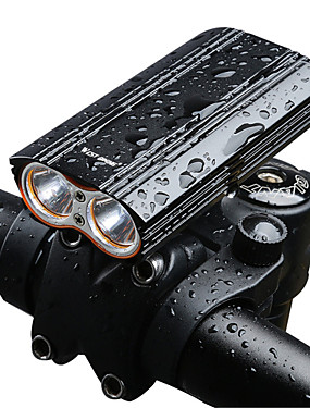 cheap Sports & Outdoors-Bike Light Front Bike Light Headlight Mountain Bike MTB Bicycle Cycling Waterproof Super Brightest Safety Portable Rechargeable Battery 18650 2000 lm 18650 lithium battery White Camping / Hiking