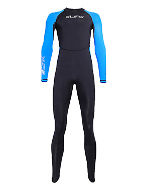 cheap Sports & Outdoors-SLINX Men's Full Wetsuit 3.5mm SCR Neoprene Diving Suit UV Resistant Quick Dry Stretchy Long Sleeve Back Zip - Diving Water Sports Patchwork Autumn / Fall Spring Summer / Winter