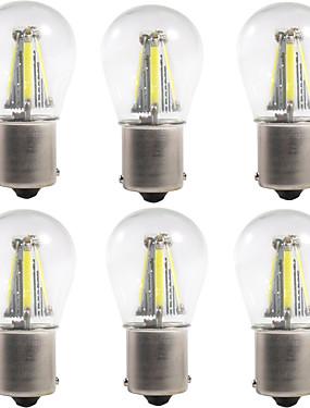 preiswerte Autolicht-6pcs 1156 / 1157 Auto Leuchtbirnen 4 W COB 300 lm 4 LED Blinkleuchte / Bremslichter / Rückfahrleuchten (Backup) Für Universal Alle Jahre
