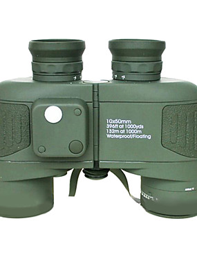 cheap Sports & Outdoors-Boshile 10 X 50 mm Binoculars with Rangefinder and Compass Lenses Waterproof, Night Vision in Low Light,Roof Prism Fully Multi-coated BAK4 Night Vision Metal IPX-7 Army Green