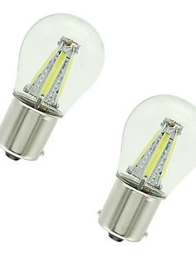 preiswerte Automobil-2pcs 1156 / 1157 Auto Leuchtbirnen 4 W COB 300 lm 4 LED Blinkleuchte / Bremslichter / Rückfahrleuchten (Backup) Für Universal Alle Jahre
