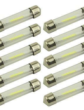 preiswerte Automobil-10 Stück 41mm / 39mm Auto Leuchtbirnen 1 W COB 80 lm 1 LED Kennzeichenbeleuchtung / Blinkleuchte / Innenbeleuchtung Für Universal