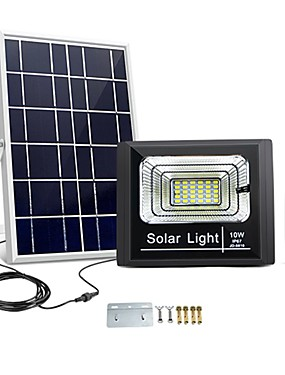 cheap Novelty Lighting-Novelty Solar Panel Charge LED light 10W Outdoor Waterproof Garden lamp Flood light Street Spotlight Night Sensor Remote