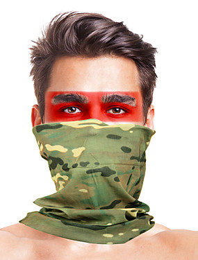 cheap Sports & Outdoors-Balaclava Camo / Camouflage Windproof Breathable Fast Dry Dust Proof Bike / Cycling Khaki fluorescent green Dark Green for Men's Adults' Ski / Snowboard Outdoor Exercise Motobike / Motorcycle Solid