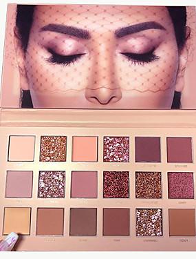 preiswerte Kosmetik für Augen-18 Farben Lidschatten Matt Schimmer Auge EyeShadow Formaldehyd-frei Paraben-frei Jugend Natürlich Atmungsaktivität Sicherheit Alltag Make-up Party Make-up Feen Makeup Kosmetikum Geschenk