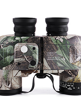 cheap Sports & Outdoors-10 X 50 mm Binoculars with Rangefinder and Compass Lenses Waterproof Adjustable Night Vision Fully Multi-coated BAK4 Camping Hiking Hunting Fishing Bird watching Wildlife Watching Natural Rubber