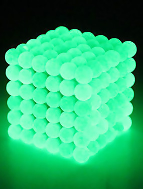 cheap Toys & Hobbies-216 pcs 3 mm Magnet Toy Magnetic Toy Magnetic Balls Magnet Toy Super Strong Rare-Earth Magnets Puzzle Cube Neodymium Magnet Glow in the Dark Stress and Anxiety Relief Focus Toy Office Desk Toys