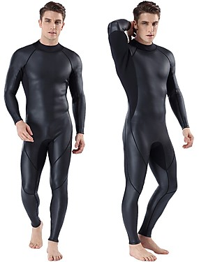 cheap Sports & Outdoors-MYLEDI Men's Full Wetsuit 3mm CR Neoprene Diving Suit Windproof Anatomic Design High Elasticity Long Sleeve Back Zip Solid Colored Autumn / Fall Spring Summer / Winter