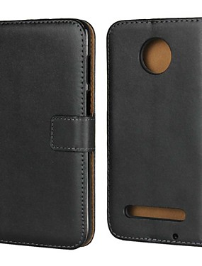 cheap Other Phone Case-Case For Motorola Moto Z3 Play / Moto X4 / MOTO G6 Wallet / Card Holder / with Stand Full Body Cases Solid Colored Hard Genuine Leather