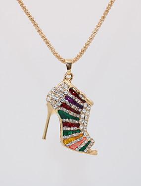 povoljno Ženski nakit-Žene Ogrlice s privjeskom Duga ogrlica Geometrijski Za cipele Jedinstven dizajn Europska pomodan Romantični Pozlaćeni Krom Crn Crvena Crvena Plava Duga 70 cm Ogrlice Jewelry 1pc Za Večer stranka