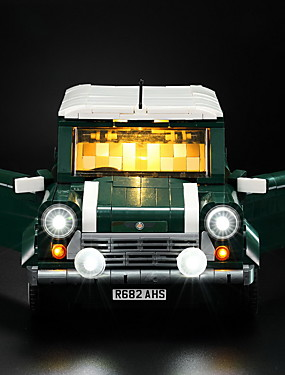 billige Originale lamper-nyhet ledet lys kit for lego lepin mini kobber murstein modell kompatibel med 10242 og 21002 blokker sett (ikke inkludert bilen)