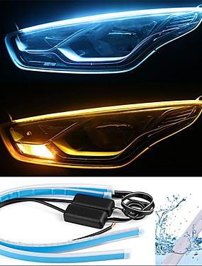 preiswerte Automobil-2pcs Kabelverbindung Auto Leuchtbirnen 13 W SMD 2835 800 lm 168 LED Tagfahrlicht / Blinkleuchte / Rücklicht Für Universal Alle Jahre